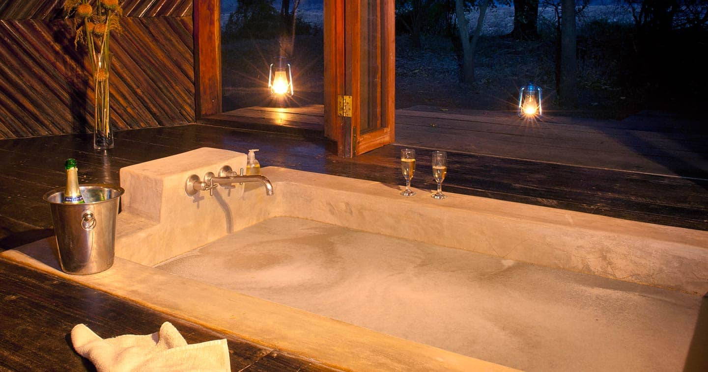 Luxury Bathroom at Luangwa River Camp in the South Luangwa National Park in Zambia