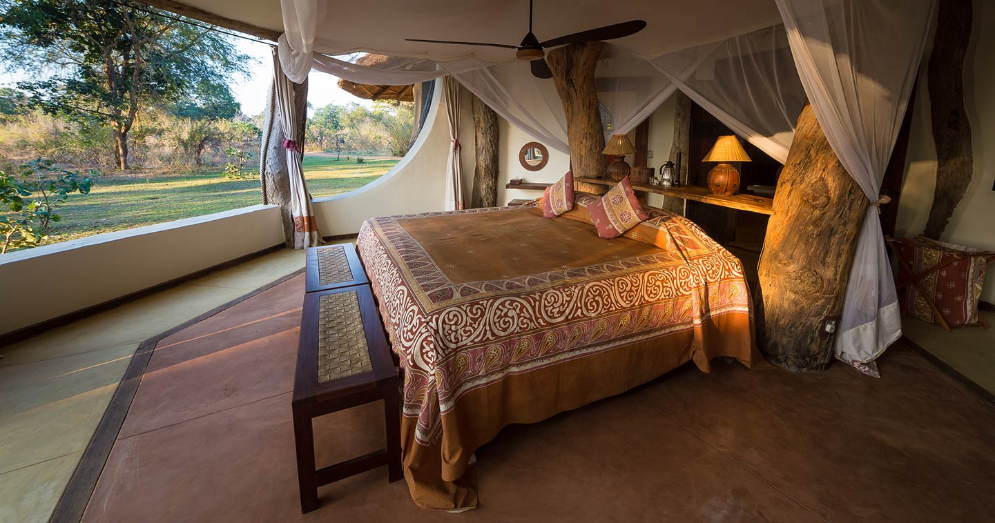 Bedroom at Luangwa Safari House in Zambia