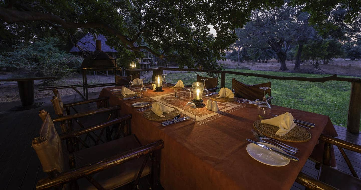 Bilimungwe Bush Camp Dining in South Luangwa National Park