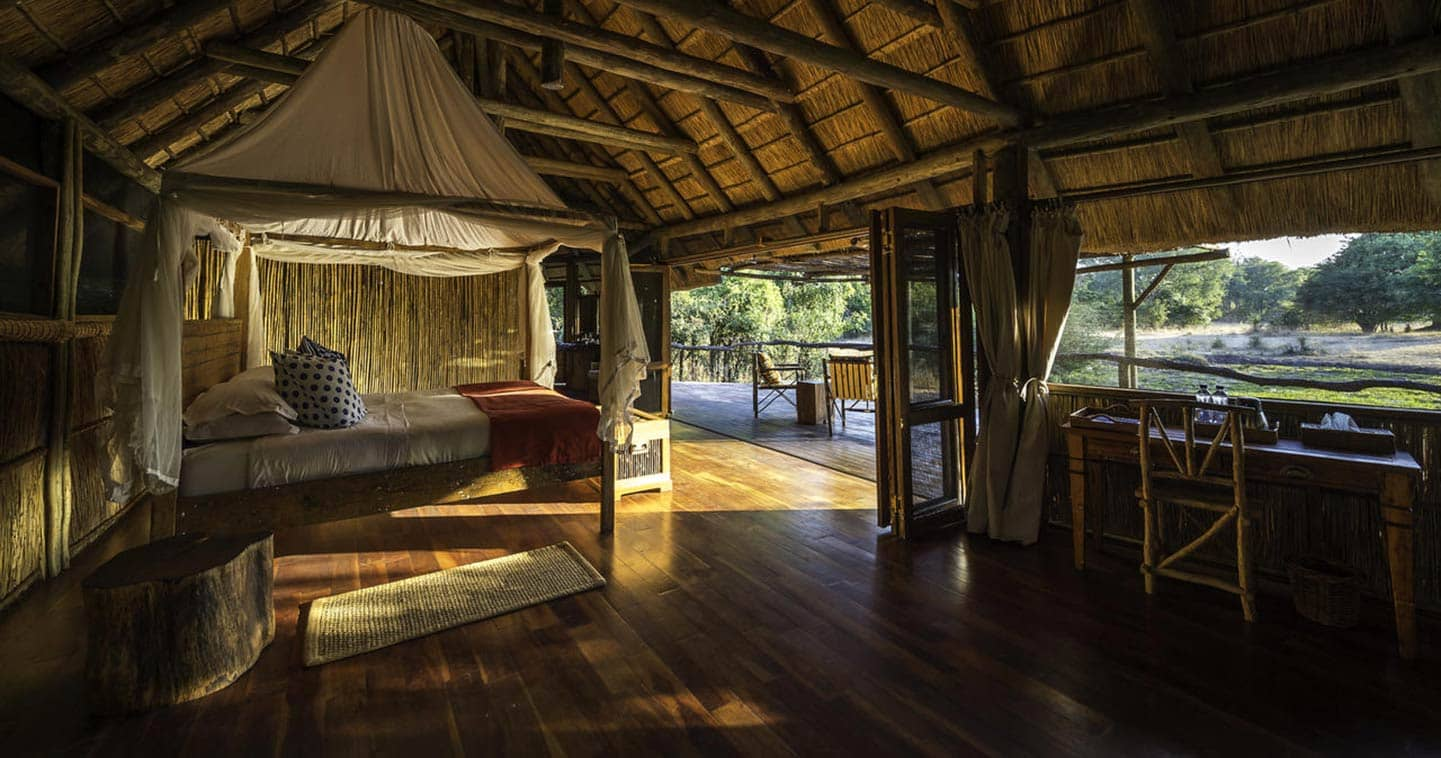 Bedroom from a Bilimungwe Bush Camp Room With view at the Amazing South Luangwa Green Wonderlands