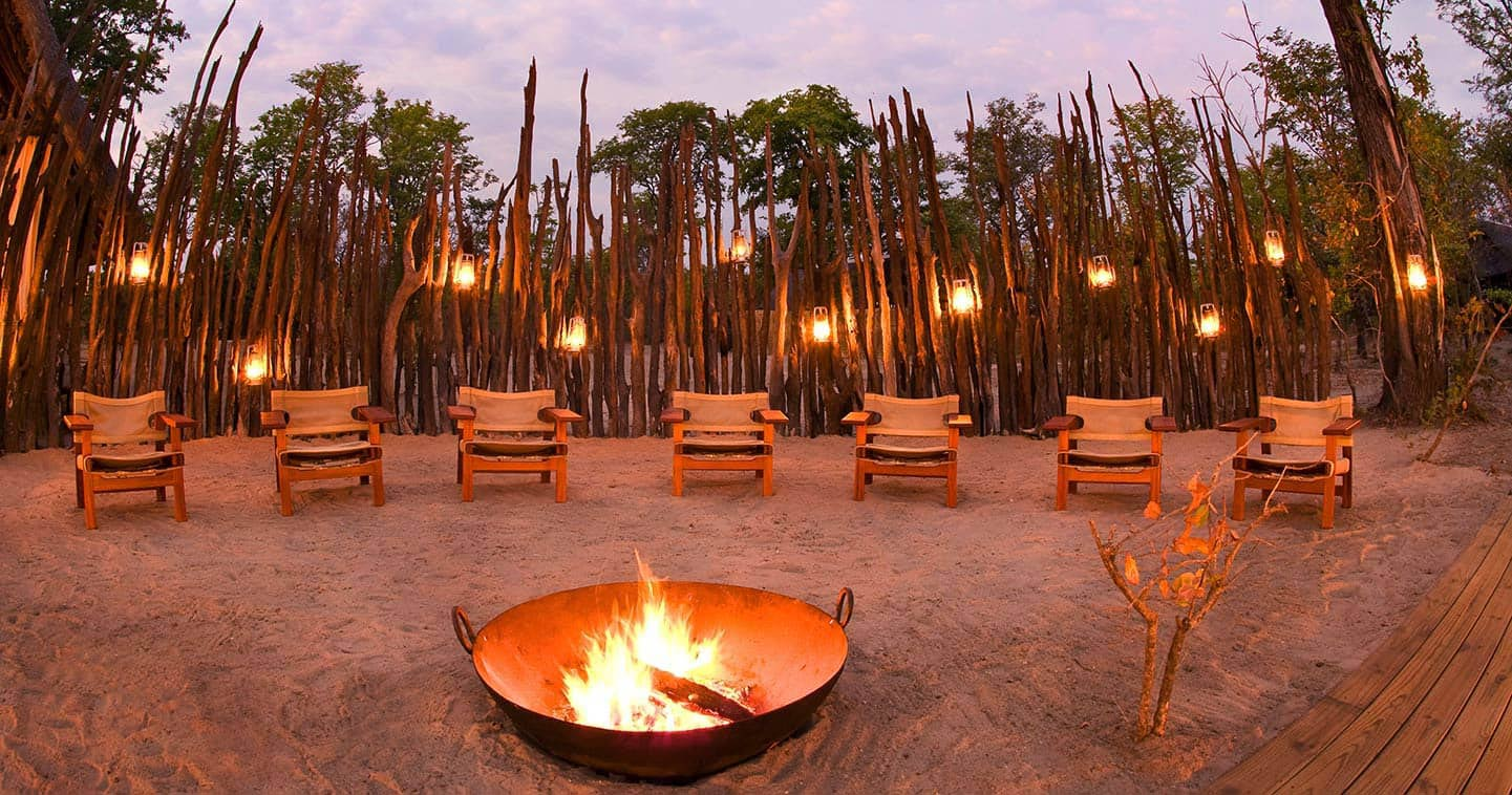 The boma at Zungalila Bushcamp in South Luangwa