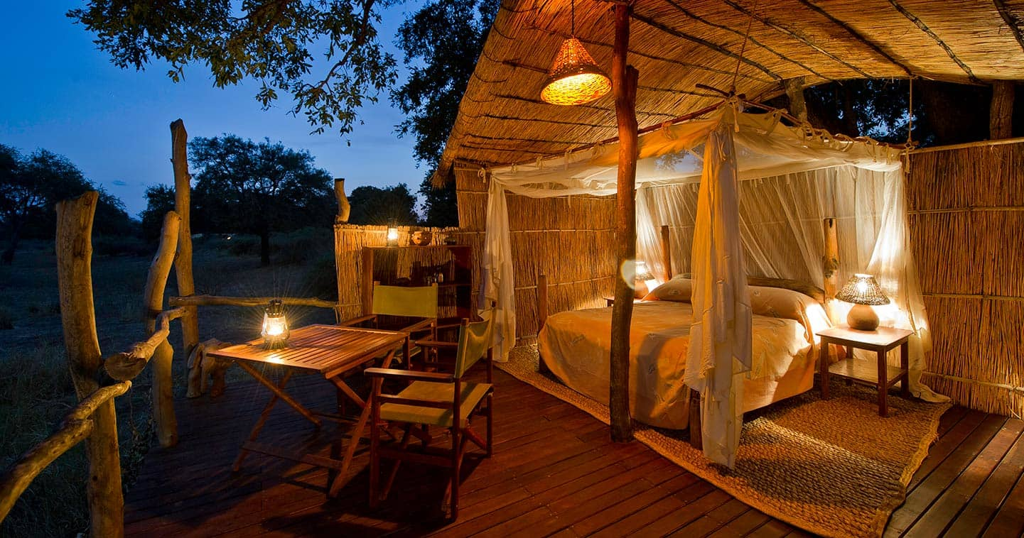 Luxury Bedroom in Flatdogs Camp in the South Luangwa National Park