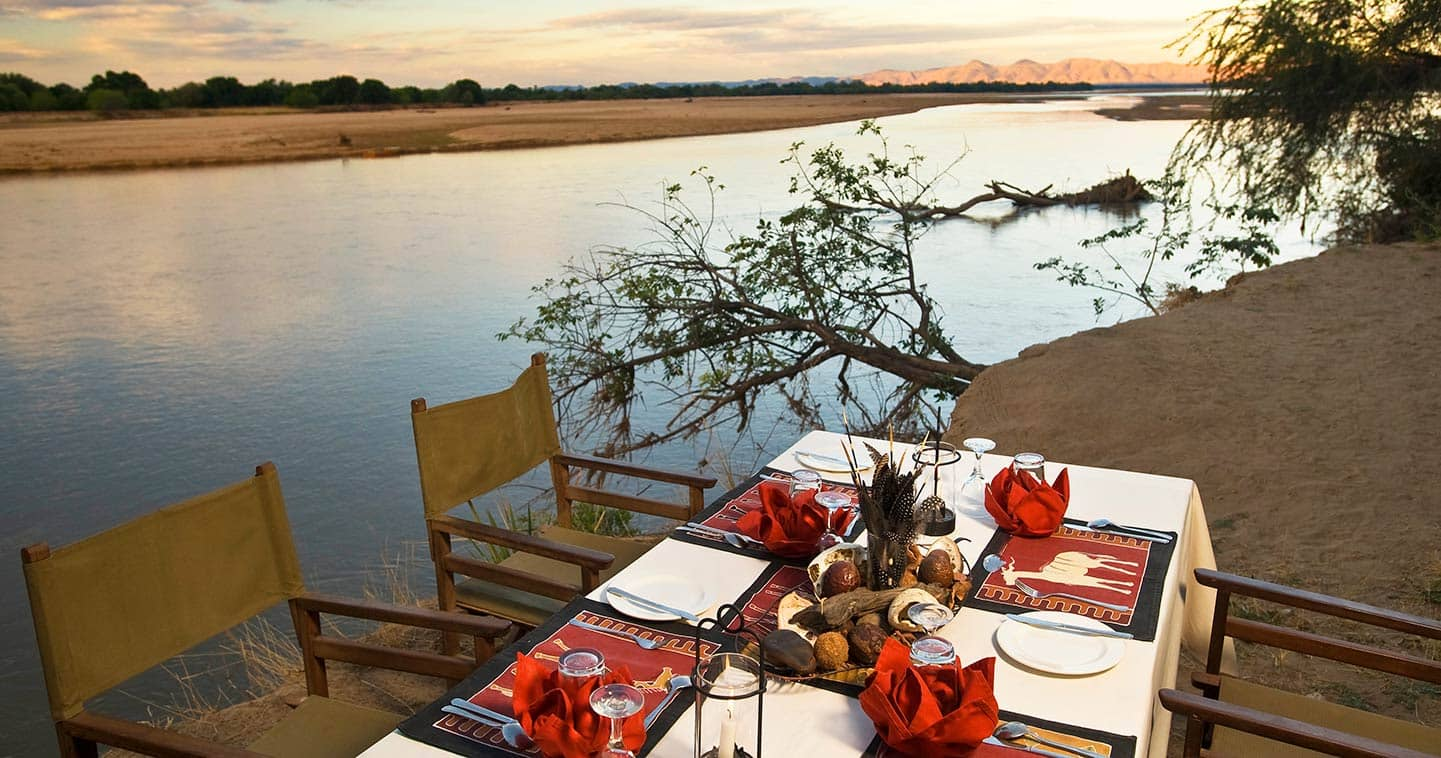 Excellent Dining at Island Bush Camp in the South Luangwa National Park