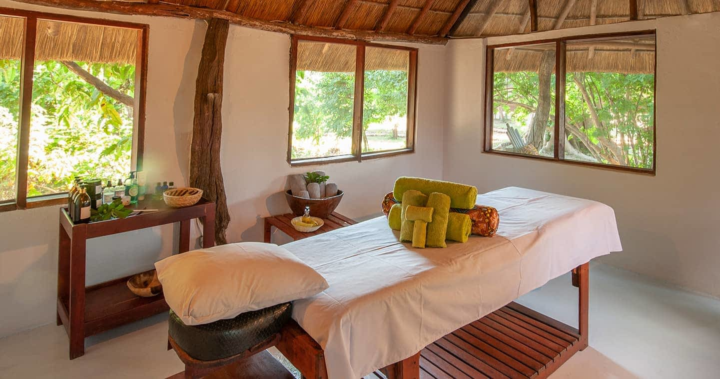 The Kafunta River Lodge Spa in the South Luangwa National Park
