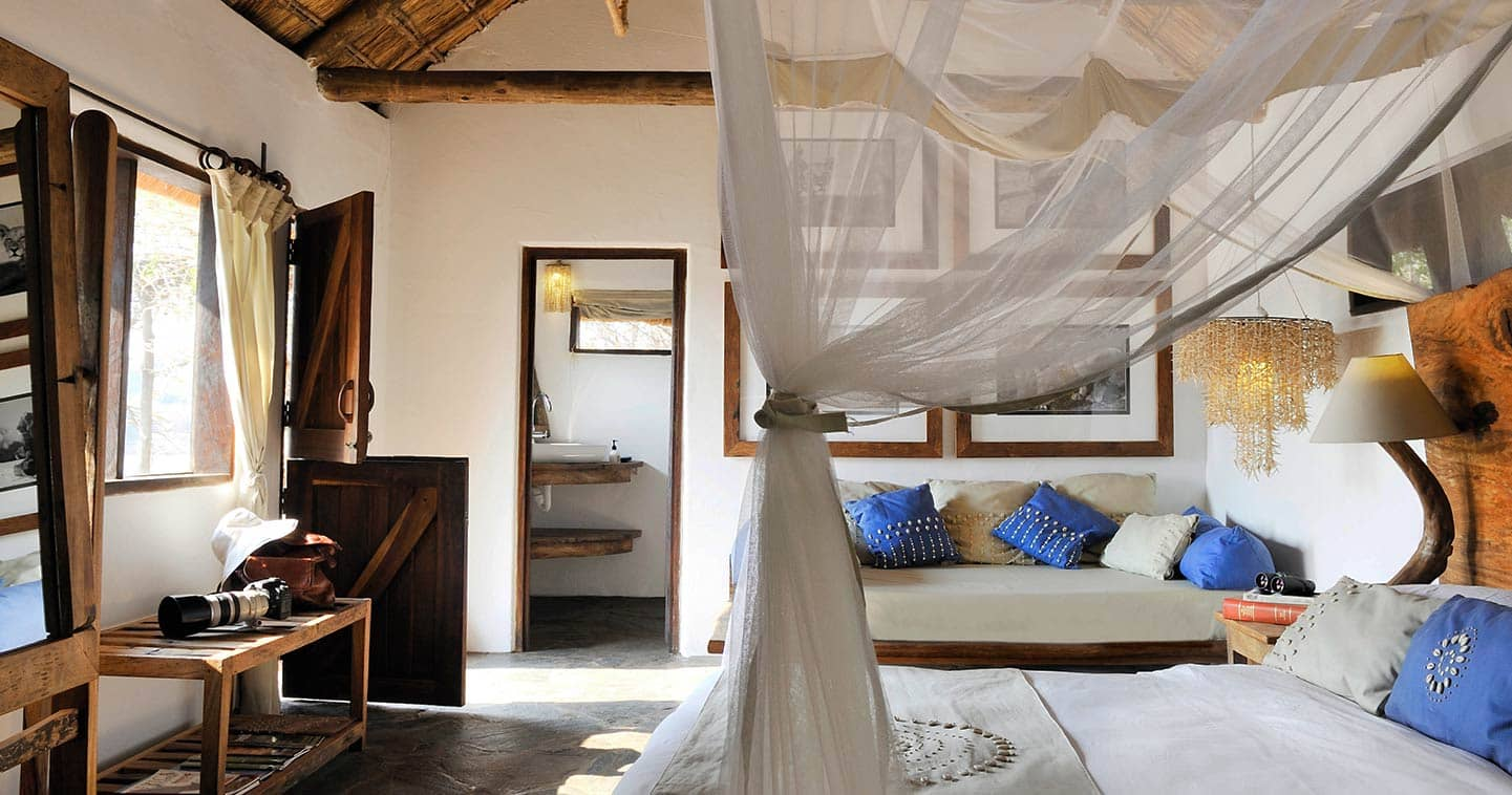 Kaingo Camp luxury bedroom in South Luangwa