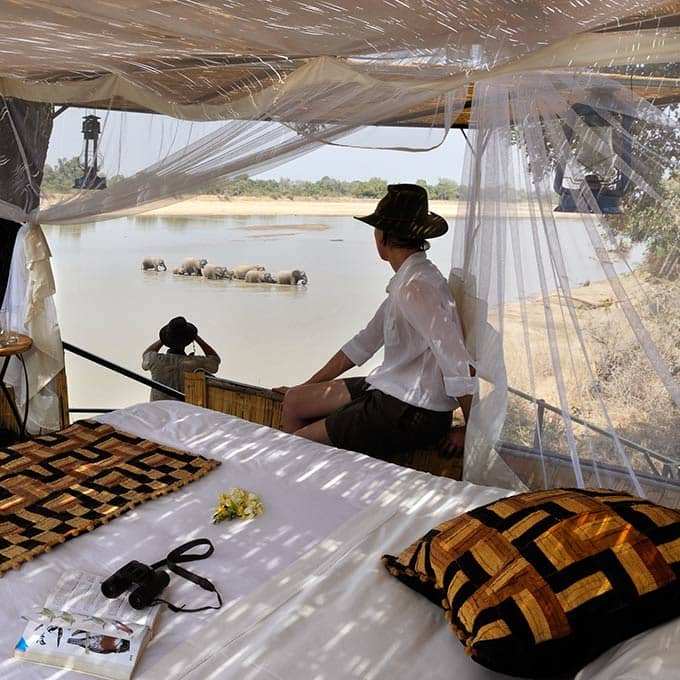 View Kaingo Camp in South Luangwa National Park