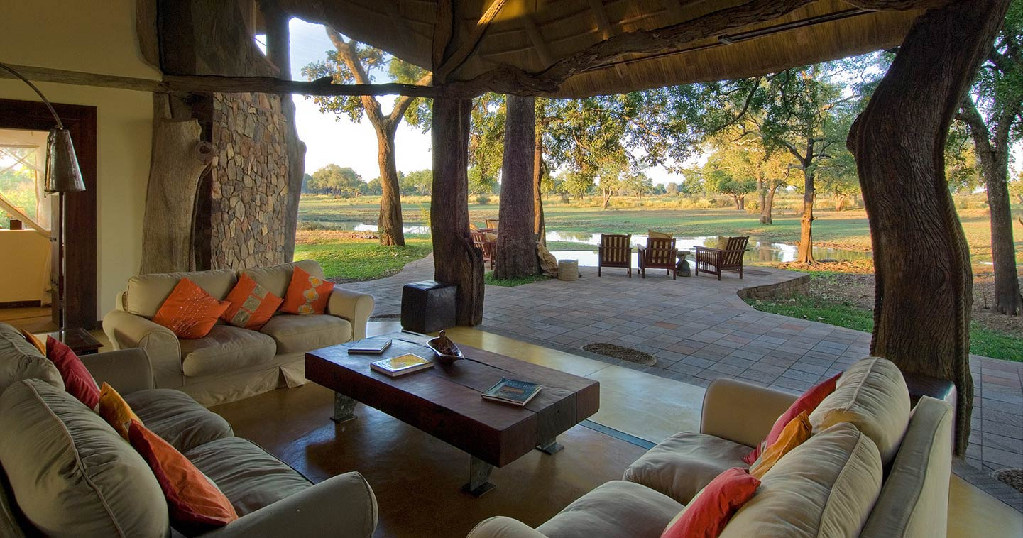 Lounge area at Luangwa Safari House