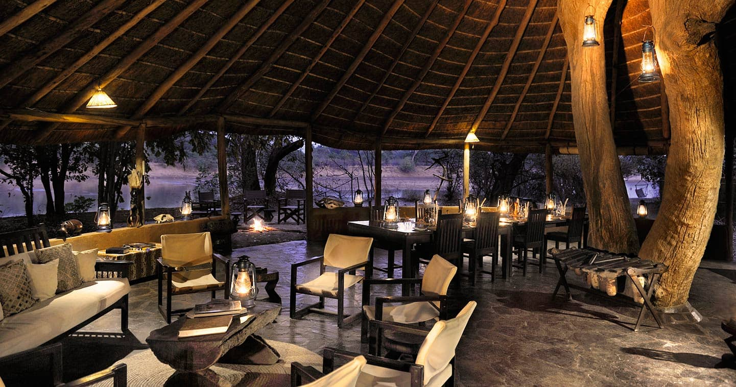 View from the lounge at Kaingo Camp in South Luangwa