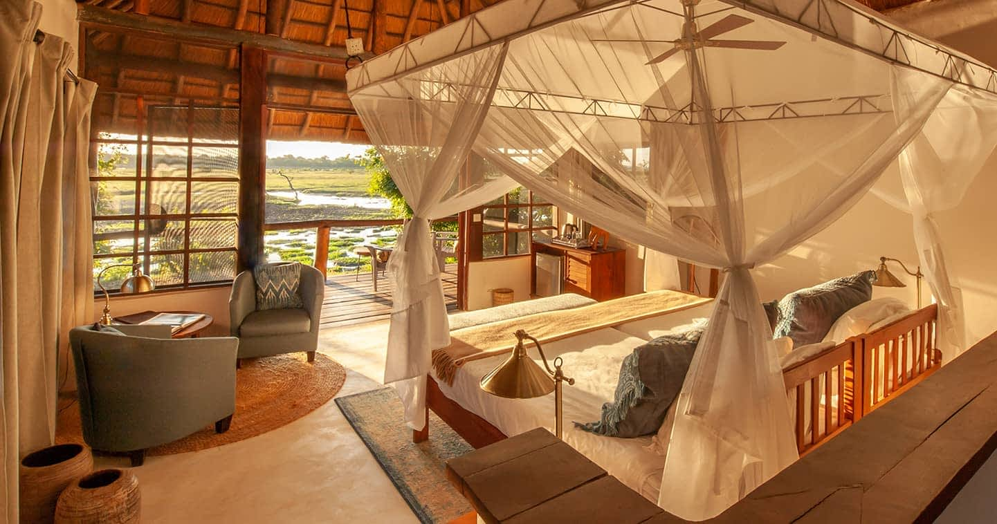 Luxury Kafunta River Lodge Bedroom in the South Luangwa National Park