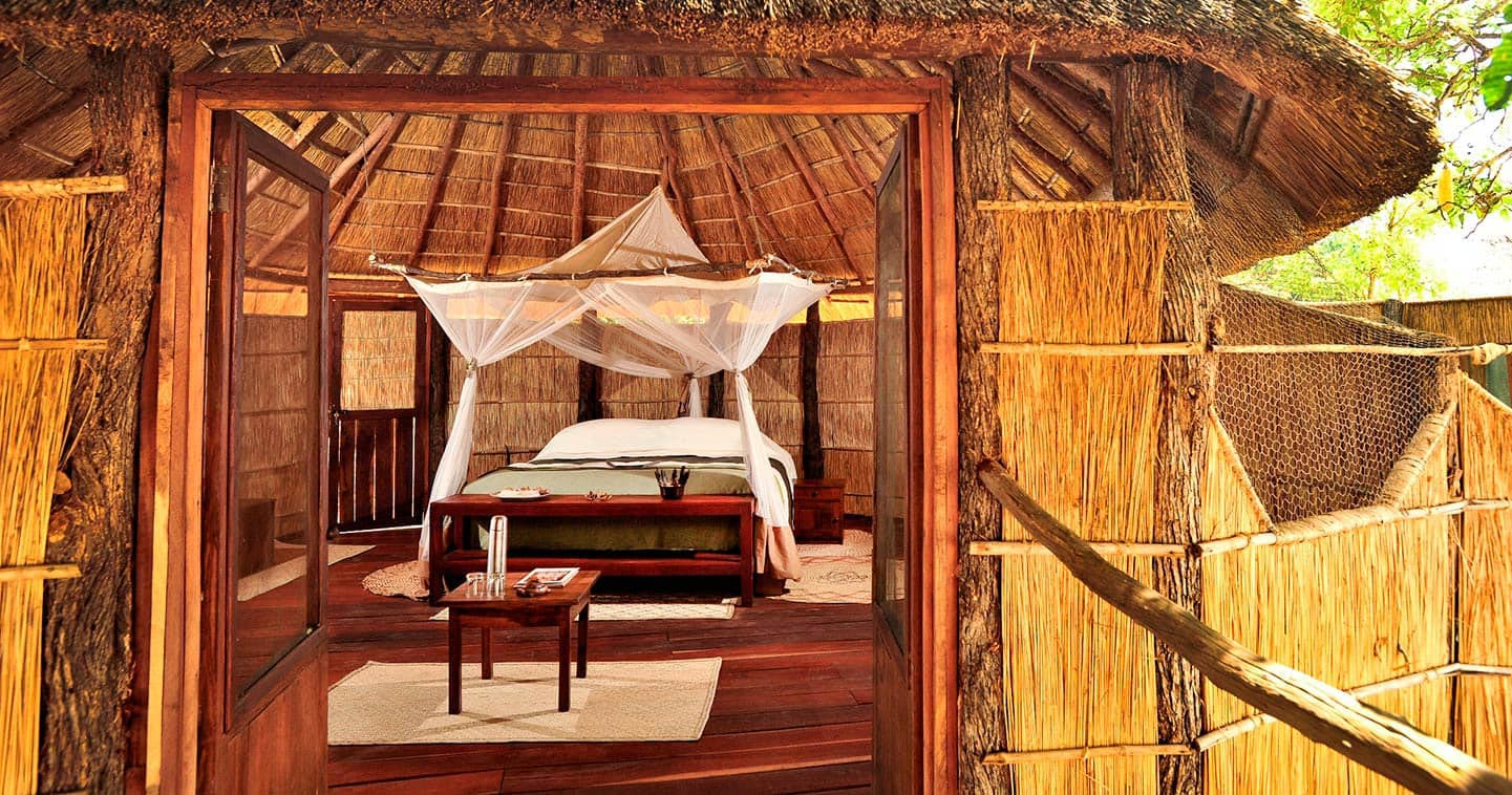 Nsolo Camp bedroom in Zambia