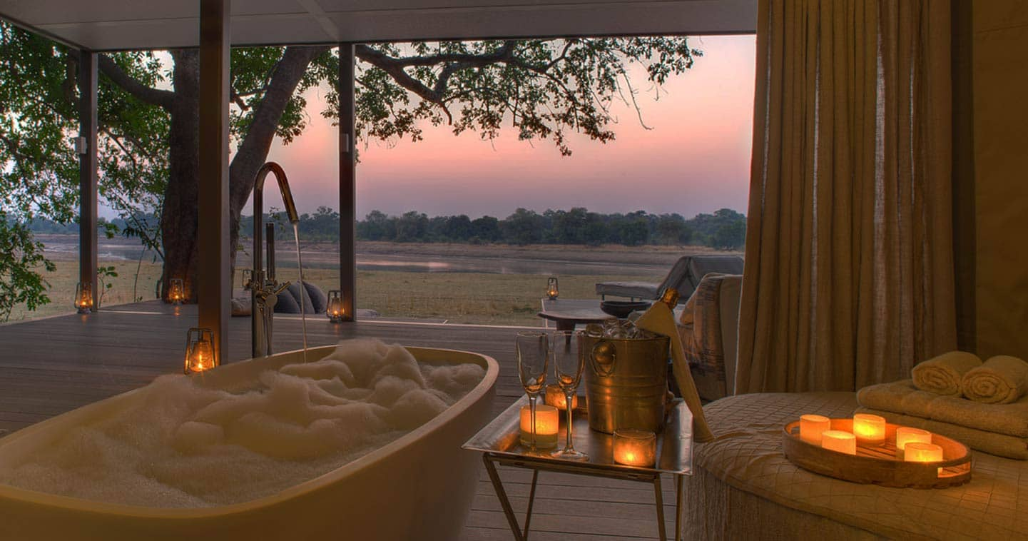 Outdoor Bathing at Chinzombo in the South Luangwa National Park