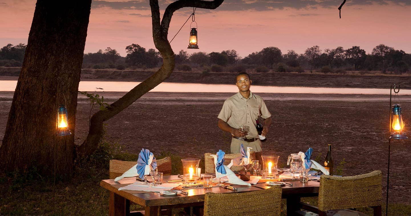 Outdoor Dinner at Luangwa River Camp