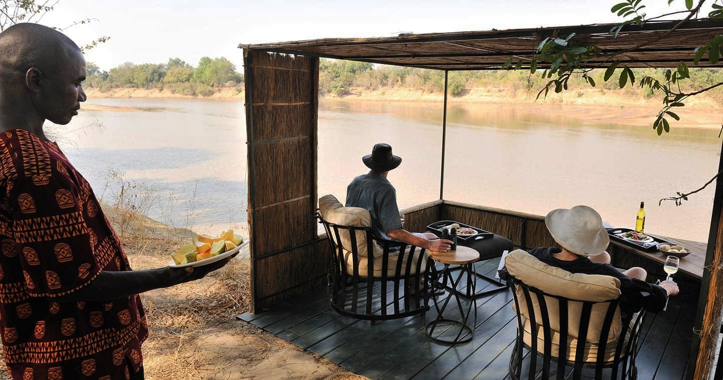 Kaigo Camp in South Luangwa National Park - main deck