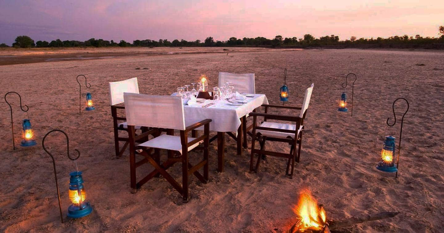 Enjoy a Romantic Dinner at Chinzombo in South Luangwa National Park