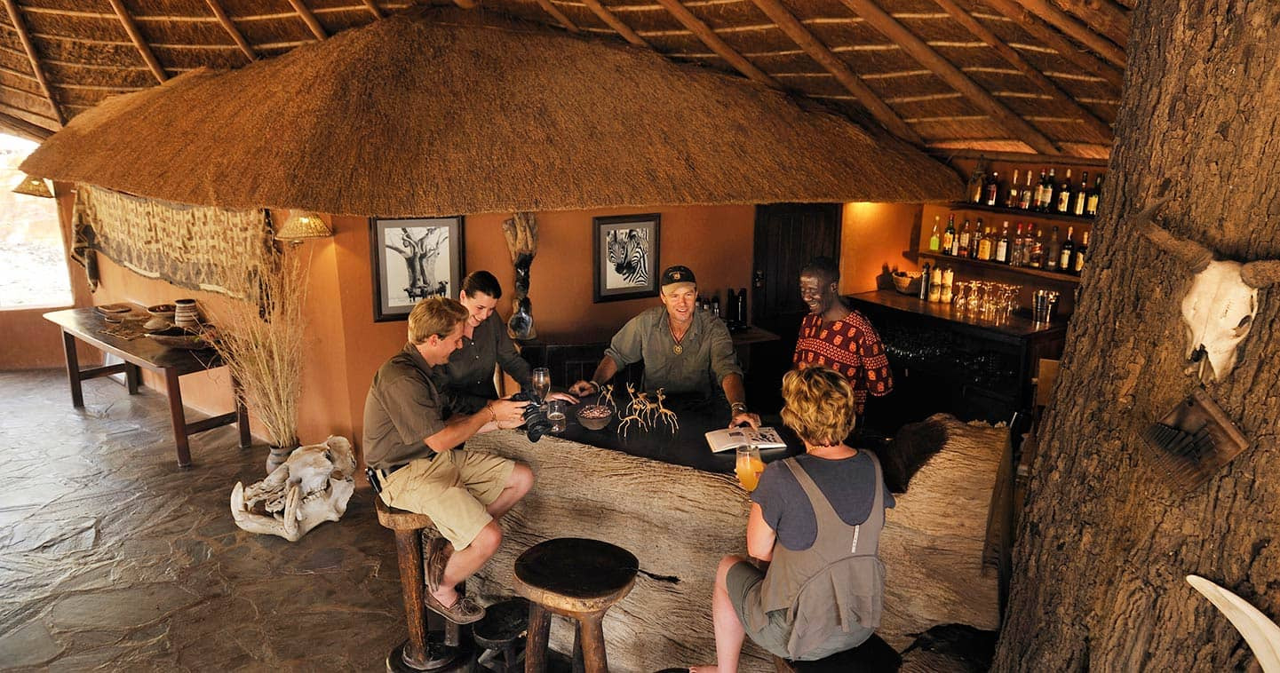 The bar at Kaingo Camp in South Luangwa - Zambia