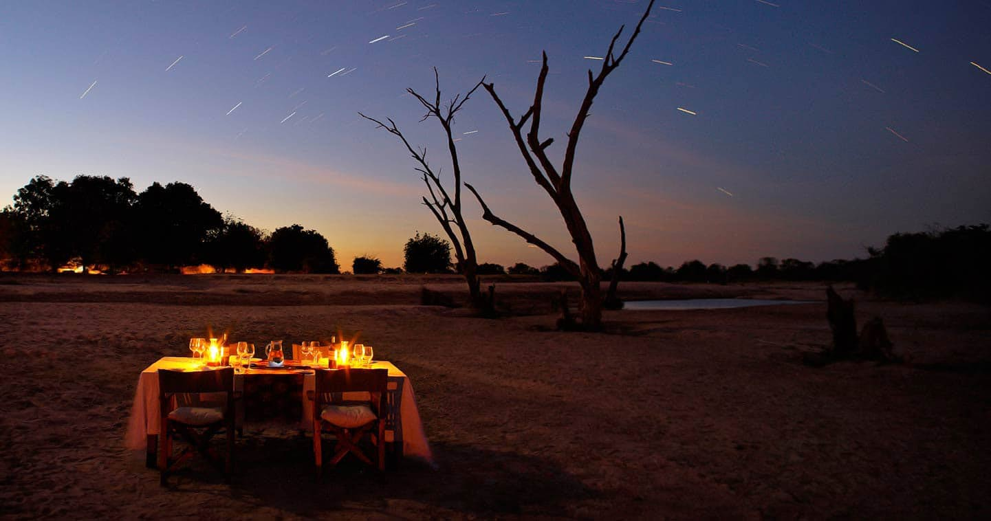 Startrail in Zambia's South Luangwa at Nsolo Camp